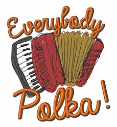Everybody Polka! embroidery design
