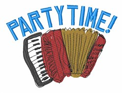 Accordian Party Time embroidery design