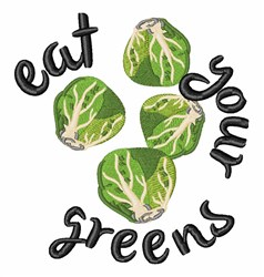 Eat Your Greens embroidery design