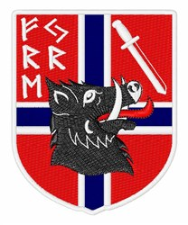 Freyr Rune Crest embroidery design