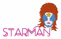 Starman embroidery design