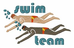 Swim Team embroidery design
