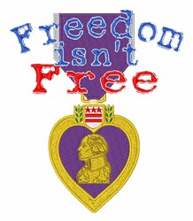 Freedom Isnt Free embroidery design