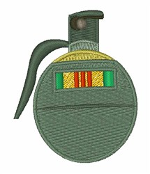 Vietnam Grenade embroidery design