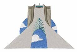 Azadi Tower Tehran embroidery design