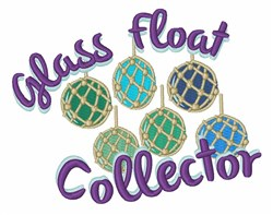 Glass Float Collector embroidery design