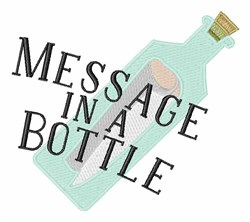 Message In A Bottle embroidery design