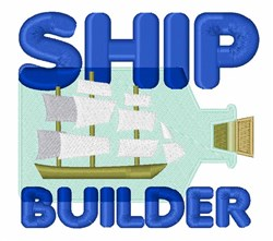 Ship Builder embroidery design