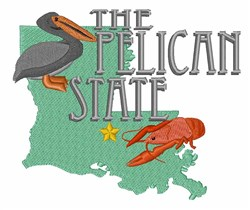 Pelican State embroidery design