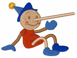 Pinocchio embroidery design