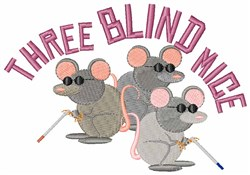 Three Blind Mice embroidery design