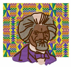 Frederick Douglass embroidery design