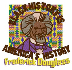 Black History embroidery design