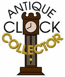 Clock Collector embroidery design