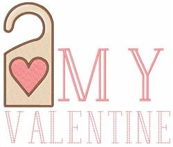 My Valentine embroidery design