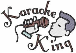 Karaoke King embroidery design
