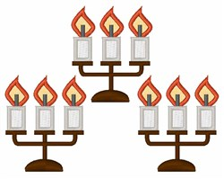 Candelabra embroidery design