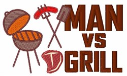 Man Vs Grill embroidery design