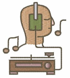 Sound System embroidery design