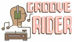 Groove Rider embroidery design