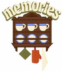 Memories embroidery design
