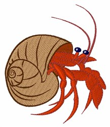 Hermit Crab embroidery design