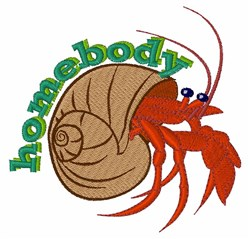 Homebody Crab embroidery design