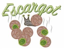 Escargot embroidery design