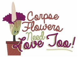 Corspe Flowers embroidery design