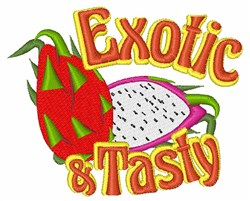 Exotic & Tasty embroidery design