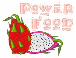 Power Food embroidery design