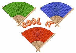 Cool It Fans embroidery design