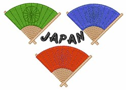 Japan Fans embroidery design