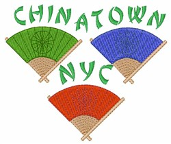 Chinatown  NYC embroidery design