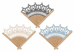 Lacy Fans embroidery design