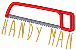 Handy Man embroidery design