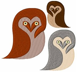 Owlets embroidery design