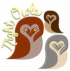 Night Owls embroidery design