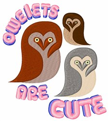 Owlets Are Cute embroidery design