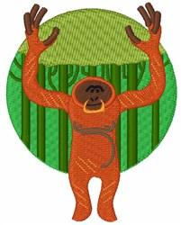 Orangutan Primate embroidery design