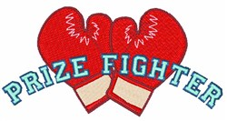 Prize Fighter embroidery design