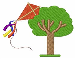 Kite In Tree embroidery design