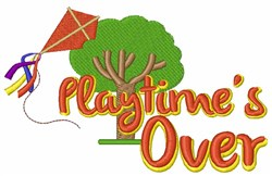 Playtimes Over embroidery design