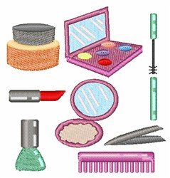Beauty Products embroidery design