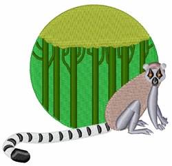 Lemur embroidery design