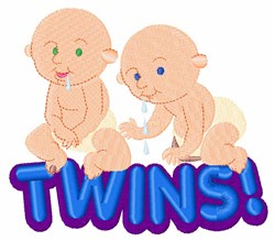 Twin Babies embroidery design