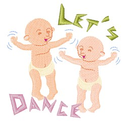 Dancing Babies embroidery design