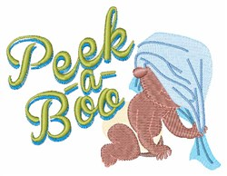 Peek-A-Boo embroidery design