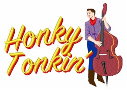 Upright Bass Player embroidery design
