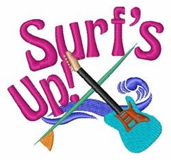 Surfin Music embroidery design